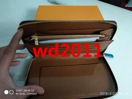 Canada Top qualité avec boîte portefeuille en cuir véritable designer avec date code portefeuille long titulaire de la carte poche à fermeture à glissière classique Offre