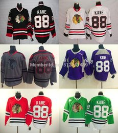 Billige hockey jerseys china online-Freies Verschiffen authentische Chicago Blackhawks Jerseys 88 Patrick Kane Jersey Günstige Eishockey Jerseys China