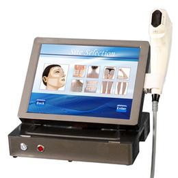 Equipos de belleza facial delgada online-Máquina Hifu 3D HIFU Extracción de arrugas por ultrasonido enfocada Ajuste de la piel Facial Lift Body Slimming Portable Beauty Equipment