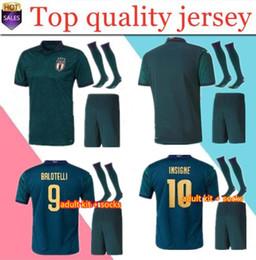 uniforme de equipe de futebol Desconto Europeus Cup ITÁLIA homens de Futebol kits 2019 da equipe nacional camisa de futebol Itália INSIGNE BELOTTI Verratti KEAN BERNARDESCHI uniformes