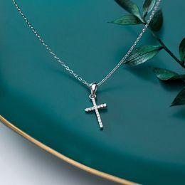 Collana Brillanti Strass Donna Pendente Cravatta Fiocco Croce Fiore Cross Stone