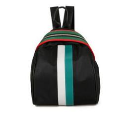2019 Explosion Modelle Fan Bingbing mit dem Mehrzweck-Rucksack Oxford Tuch Umhängetasche Farbstreifen Reißverschlusstasche 03 von Fabrikanten