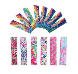 Argentina Neopreno Popsicle Holder LILY Floral Pop Ice Sleeve Freezer Pop Freeers 4 * 15.5 cm Cubierta de borde para niños Verano Playa Helado Herramientas A6301 Suministro