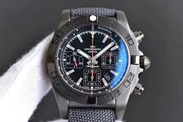 Orologio meccanico più cool online-44MM COOL GF Chronomat Raven AUTOMATICO MECCANICO 7750 CRONOGRAFO DA LAVORO CHRONO CRONOMETRO OROLOGI DA UOMO OROLOGIO DA POLSO ZAFFIRO IMPERMEABILE