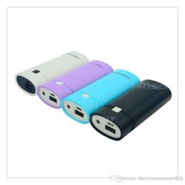 Luz do carregador sem fio on-line-DIY Carregador Portátil Removível Caso 2x18650 Banco de Potência Externa da Bateria com Saída USB e Luz Indicadora de Segurança