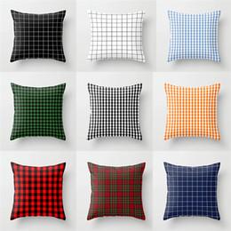cubiertas textiles Rebajas Nueva moda para el hogar Textiles de poliéster celosía funda de almohada para automóvil sofá funda de almohada oficina cojín 4903