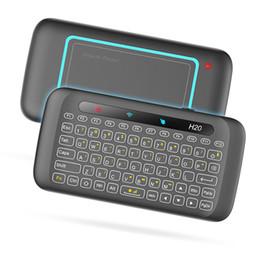 30 unids H20 Air Mouse mini teclado H20 con pantalla táctil completa 2.4G Fly Air Mouse para Smart TV Box desde fabricantes