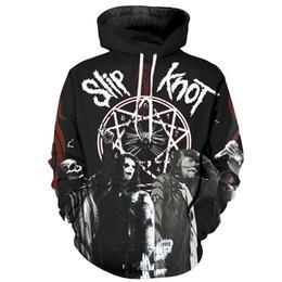Iron Maiden Slip Knot 3D Felpe con cappuccio Rock Band Felpe metalliche Uomo Donna Felpa con cappuccio Tute fantastiche Maglioni da uomo Pullover con cappuccio Hip Hop cheap hoodies metallica da hoodies metallica fornitori