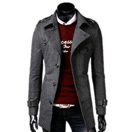 2019 mens di cappotto incappucciato a lana singola 2018 moda autunno / inverno uomini nuovi per il tempo libero monopetto trench / gira giù giacca di lana lungo degli uomini