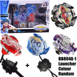 Beyblade metal fight launcher online-Bayblade nuevo 4PCS Boxbblade Beyblade Burst 4D Set con Launcher Arena Metal Fight Battle Fusion Classic Toys Caja original