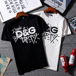 2019 camisas velhas da forma Designer de verão dar Mens Tshirt de Moda de Luxo em torno do pescoço normal velho borken carta impressão T Camisa de Algodão Casual T-shirt tee top camisas velhas da forma barato