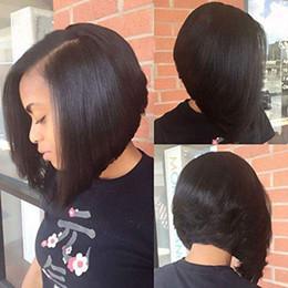 Cheveux Humains U Part Bob Perruques pour Femmes Noires Brésiliennes Droite Courtes Bob U Part Perruque Sans Colle Couleur Naturelle 1X4 Pouce À Gauche ? partir de fabricateur