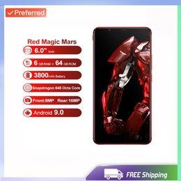 Красный ром онлайн-Фабрика разблокирована оригинальный ZTE Nubia Red Magic Mars игровой смартфон 6,0-дюймовый 64 ГБ ROM