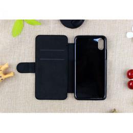 Para iphone x xs xs max xr 8 8 plus 6 6 plus em branco sublimação pu capa de couro do telefone móvel estojo de proteção de
