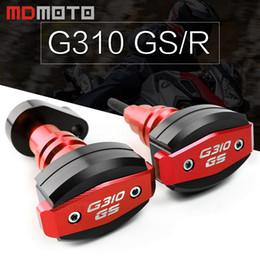 motocicletas gs Desconto Para G310GS G 310GS G310 GS G 310 GS CNC alumínio motocicleta Quadro Sliders anti Bater Motor Guard Pad Side escudo protetor