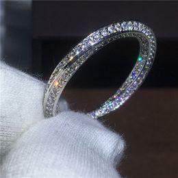2019 pietre aaaaa cz Croce gioielli amanti anello in argento sterling 925 Pave impostazione AAAAA Zircone Cz pietra fidanzamento anelli di fidanzamento per le donne da sposa pietre aaaaa cz economici