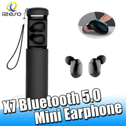 Écouteur design universel en Ligne-X7 Bluetooth Écouteurs Mains Libres 360 ° Stéréo Surround Bass Casques Portable Design Casque pour Samsung Note 10 iPhone TWS Écouteurs