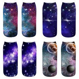 2019 calze kawaii Starry Sky Pattern 3D Calzini Donna Calzino Moda Calze per ragazze Meias Donna Kawaii Caviglia Happy Funny Sock drop shipping calze kawaii economici