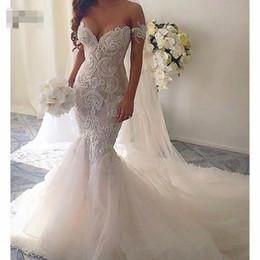 Сексуальные кружева русалка свадебные платья 2019 аппликации возлюбленной с плеча размер гноя модные свадебные платья Robe De Mariee от