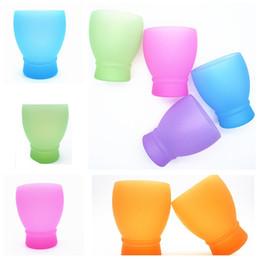 2019 occhiali da cristallo Bicchieri di silicone flessibile tazza di corsa moda portatile di campeggio di picnic speciale esterno utilità tazza casa bevanda tazza T3I5010