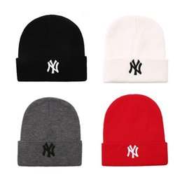 crochet crochet Sconti In Stock Winter Warm Cappellino NY ricamato lettere Beanie per tappi di sci Unisex Moda all'aperto