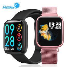 reloj inteligente ios pulsera Rebajas Nueva P80 pulsera de la venda del perseguidor SmartWatch 1,3 pulgadas de pantalla táctil completa Romote Foto Música Control de las pulsaciones para Samsung y Ios