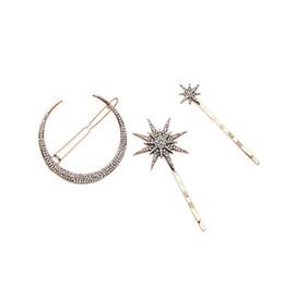 Alloy all'ingrosso di gioielli coclea luna stella ciondolo clip tornante della ragazza da morsetto di capelli bohémien fornitori
