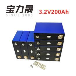 16 Pz / lotto Deep Cycle 200AH lifepo4 batteria 3.2v 200AH 3C alta scarica corrente 600A per fai da te 12V 24V 100ah 200ah per pacchetto EV da cornici in alluminio fornitori