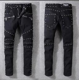 jeans hommes zips Promotion Jeans Hip-Hop pour hommes Imprimés Imprimés Zips Longues 2019 Nouvelle Arrivée Fashions Vêtements Zip Multi-Style Multi-Couleurs Populaires-Vêtements