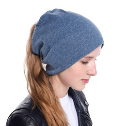 2019 kentucky derby stirnbänder Designer Beanie Sport Winter Pferdeschwanz Hüte Stirnband Schal Hip Hop Styles für Frauen Solid Color Beanies rabatt kentucky derby stirnbänder