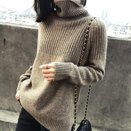 8c6ada1a48d4 camicie di lana al collare Sconti Maglione nuovo maglione di cachemire  femminile allentato maglione di lana