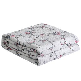 Baumwoll-blumen-bettdecke online-Cotton Small floral Quilt Quilted Tagesdecke Quilts Bettdecken Bettdecke Bettwäsche Bettlaken Bettdecke Sommerbettdecke Quilt #sw