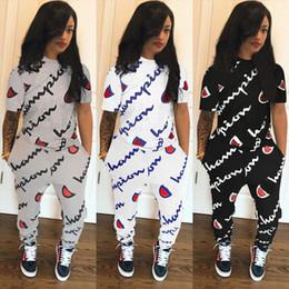 Deutschland 2018 Plus Größe Frauen Trainingsanzüge Damen T-shirt Hosen 2 Stück Set Trainingsanzug Sportbekleidung Frauen Herbst Outfits cheap ladies t shirt sizes Versorgung