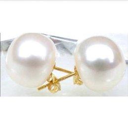 4c6e3b7085ff Pendiente de perlas del mar del sur de AAA + 13-14mm