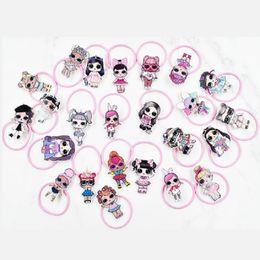 Lol encanto online-Fashion Lady Hair Jewelry Cute LOL Girl Charm Bandas elásticas para el cabello Pink Hairrope Hairstyle Holder Rubber Band Scrunchies Accesorios para el cabello para niños