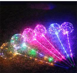 decorazione flash Sconti LED luminoso LED Bobo Balloon lampeggiante chiaro palloncini trasparenti 3M String luci con impugnatura per Xmas Party decorazioni di nozze 2019