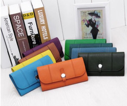 2019 llavero de cuero liso Nueva billetera de piel de vaca MS billetera bolso largo foto H diseño de diseñador de billetera de payaso