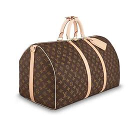 nuova qualità Hot marchio Borse da viaggio uomo donna vera pelle Keepall 45 50 55 60 completo mens donna crossbody borse a tracolla da