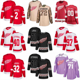 d819aff71a3 Detroit Red Wings 17 Filip Hronek 3 Nick Jensen 55 Niklas Kronwall 28 Luke  Witkowski 45 Jonathan Bernier 35 Jimmy Howard Hockey Jerseys niklas kronwall  ...
