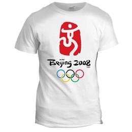 corrida livre camisetas Desconto BEIJING CHINA OLYMPIC JOGOS RETRO SPORTS EVENTO T SHIRT 2008 MENS RUNNING Engraçado frete grátis Tshirt top