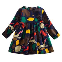 Bébé filles robe 2019 nouveaux enfants printemps qualité règne animal modèle manches longues robe filles de bande dessinée linge vêtements 3-7 ans ? partir de fabricateur