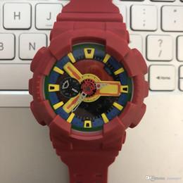 мужские спортивные цифровые светодиодные часы Скидка Популярные Мужские Летние Спортивные Часы LED Водонепроницаемый Восхождение Цифровые Мужчины 110 Часы Все Pointer Work Оригинальная Коробка Роскошные Часы