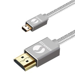 Cable hdmi smartphone online-Cable micro HDMI, HDMI Tipo D a HDMI Tipo A Soporte 3D, 4K PARA Smartphone BlackBerry Z30 equipado, Asus Zenbook Tablet, Go
