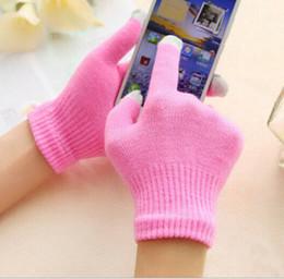 Juegos normales online-Cálido invierno mágico guantes de pantalla táctil guantes de tejer con pantalla táctil juego móvil capacitivo mitón mágico LJJZ505