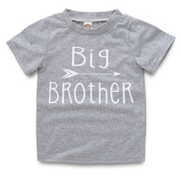 9dc15239620e1 Bébé Enfants Filles Garçon Garçon À Manches Courtes Coton T-shirts Top  Lettre Imprimer Big Brother Sister 2Style LJJS126