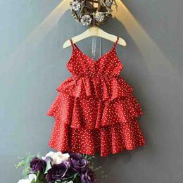 dot bebê roupa Desconto Meninas verão suspender vestido coração pontos impressos menina bonito do bebê camada de bolo de chiffon saias crianças boutiques roupas