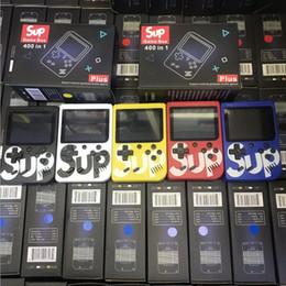 jogo de arcade de tv Desconto SUP Mini Handheld Game Console Sup Plus Portátil Nostálgico Game Player 8 Bit 400 em 1 Jogos FC Color Display LCD Game Player