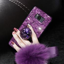 Samsung neue modelle online-2019 neue Ankunft Samsung S10 Telefon Fall Silikon Schutz Persönlichkeit Modelle Mode Plüsch All-inclusive Anti-Herbst New Marble