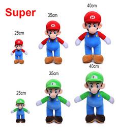 25cm 35cm 40cm Super Mario Bros Peluche Mario e Luigi Peluche Peluche per regali da