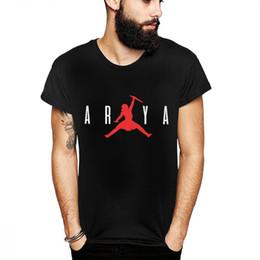 Juego de tronos camiseta Arya Stark Not Today T Verano Hombre Diseño de moda fresco Camiseta con cuello redondo Q190516 desde fabricantes